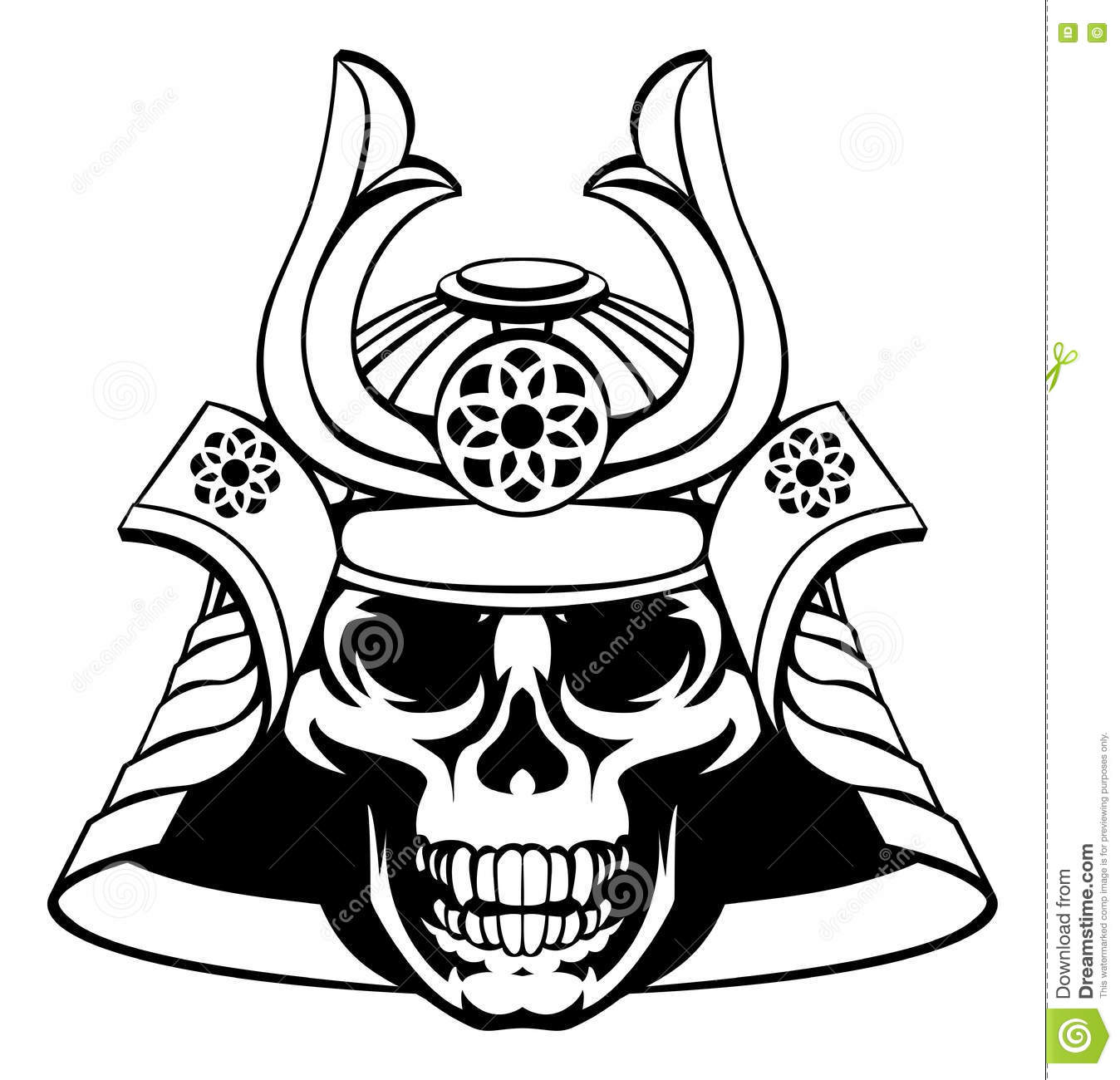 Skull samurai warrior