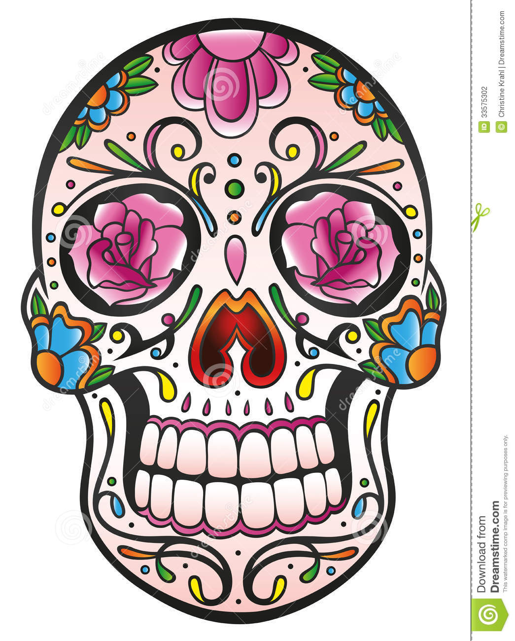 Skull Sugar Skull Stock Photography Image 33575302