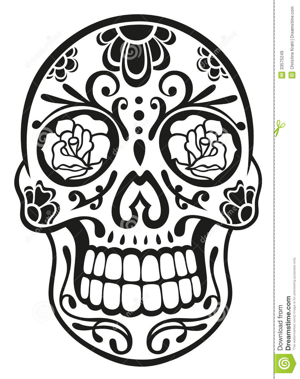 Skull Sugar Skull Royalty Free Stock Images Image 33575249