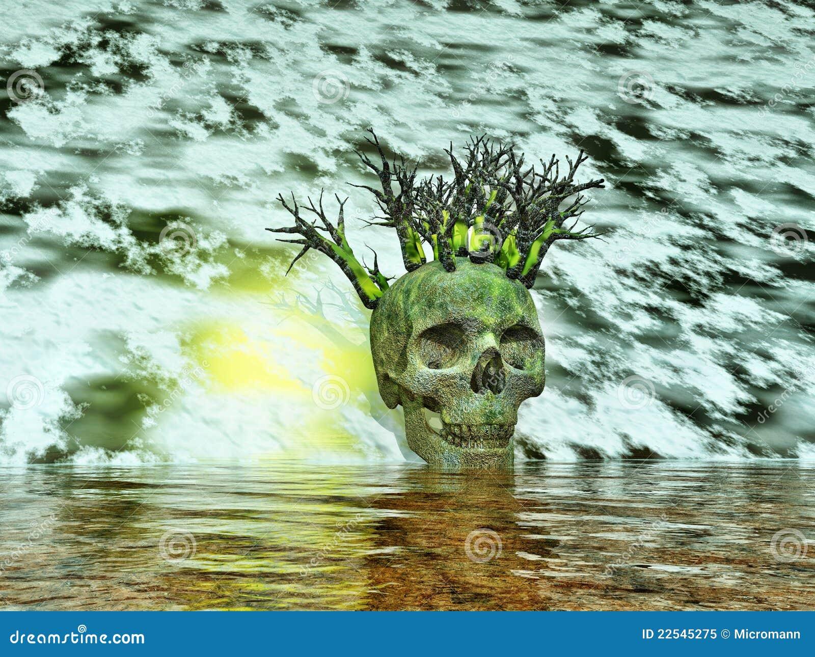 Halloween Skull Head