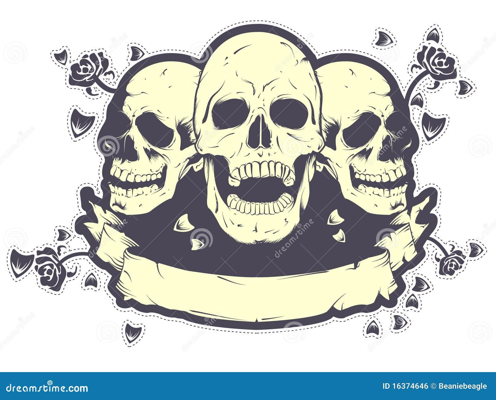 Skull T Shirt Design Royalty Free Stock Image Image