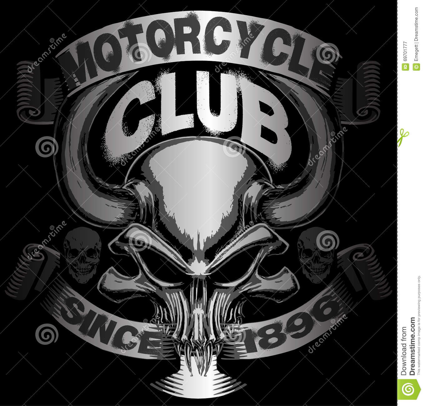 Skull t shirt graphic design motorcycle design stock for T shirt graphic designer