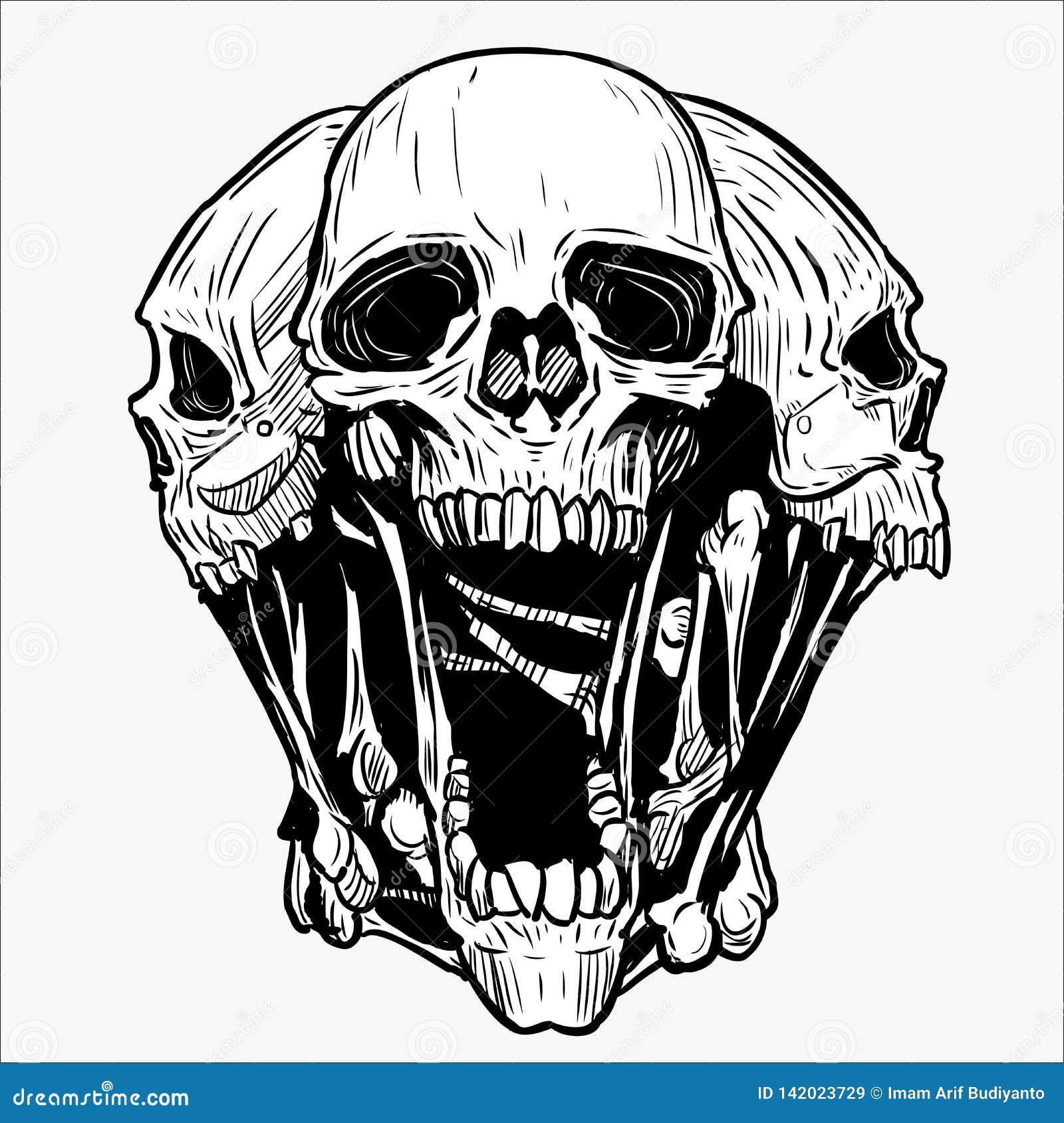 Vector Illustration Web Designs: Skull Vector Illustration For Various Design Needs Stock