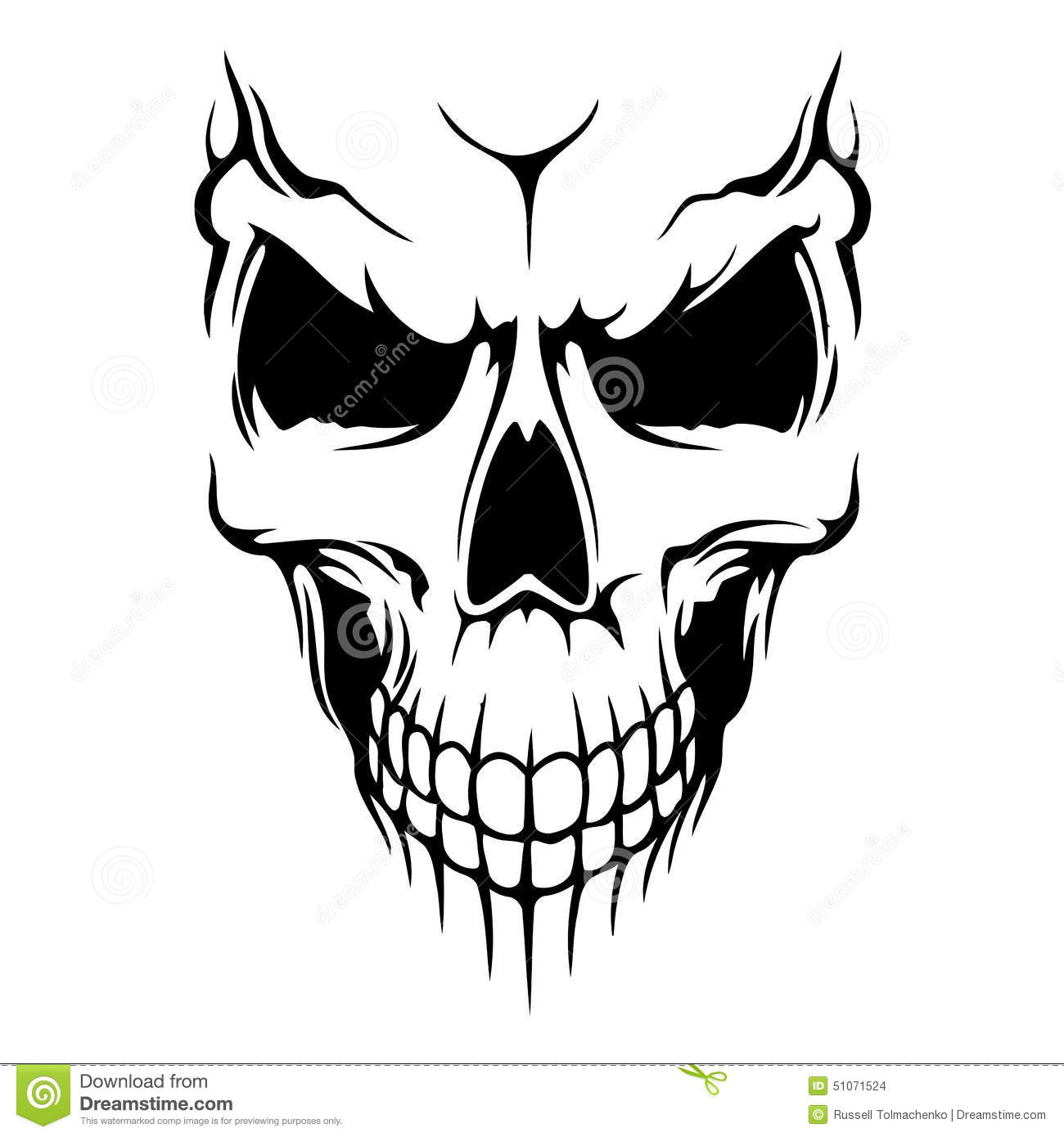 Skull Vector Stock Vector. Illustration Of Design, Bone