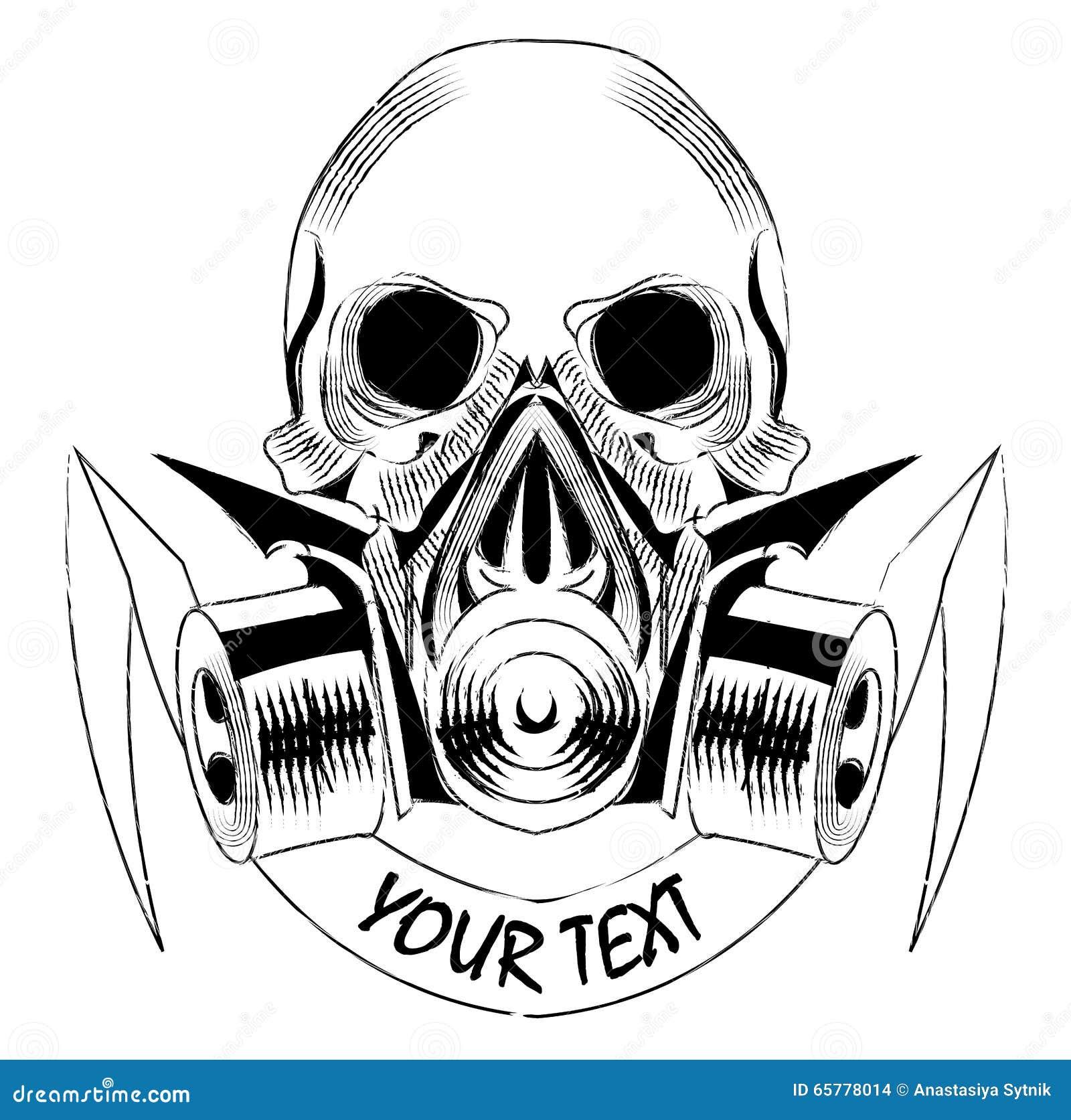 gas mask and skull royaltyfree stock image