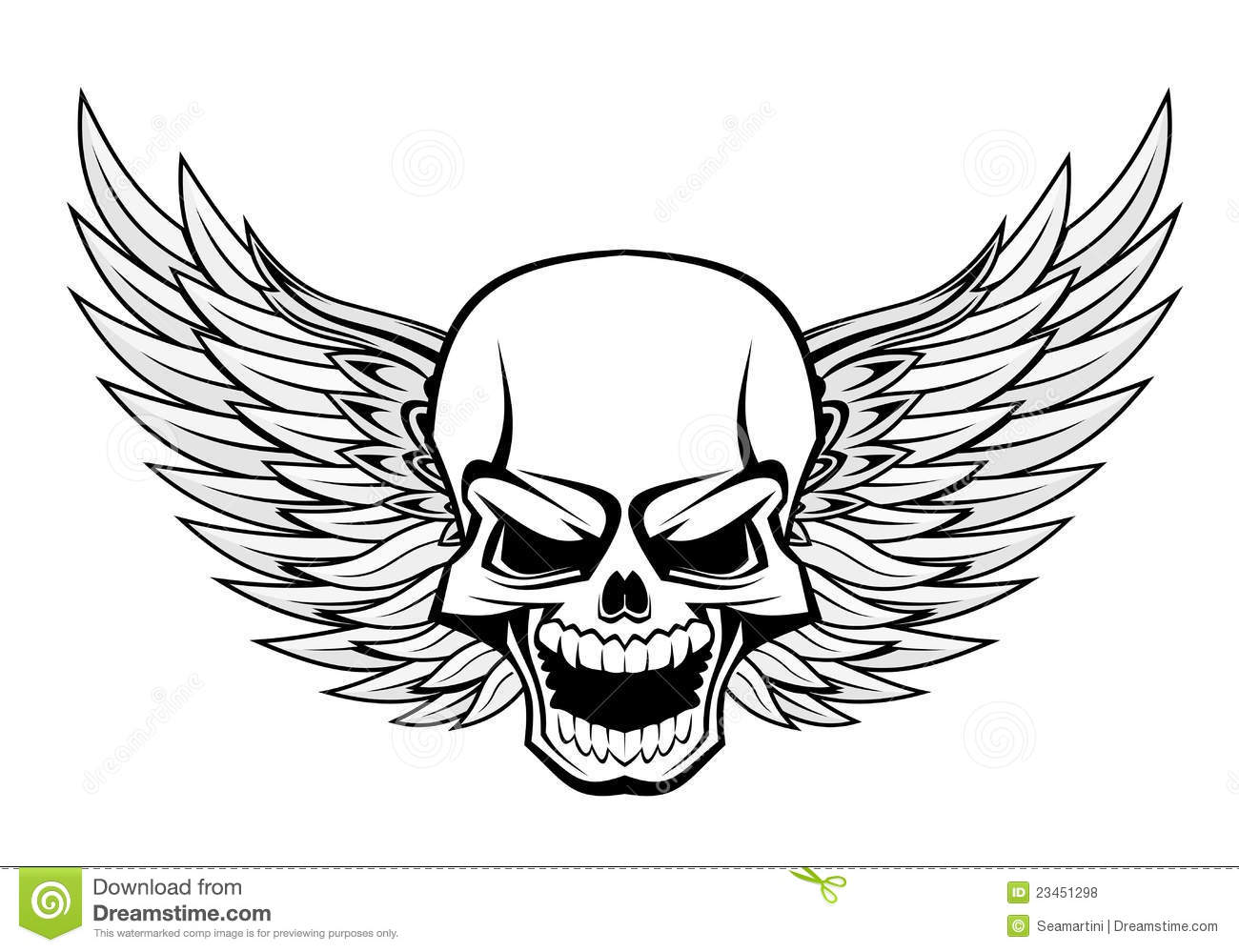 Royalty Free Stock Photos Skull Wings Image23451298 on harley davidson army motorcycle