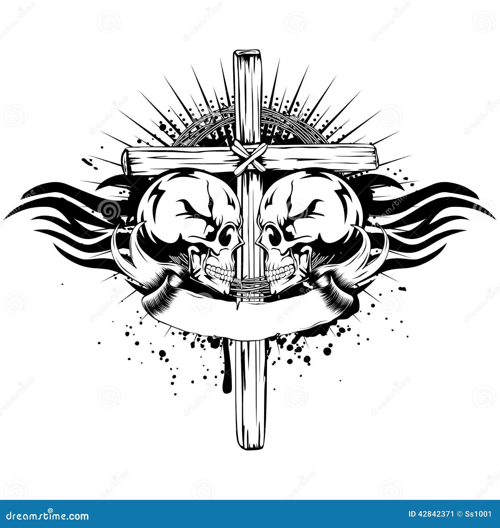 Skulls Cross Tribal Stock Vector Illustration Of Drop 42842371