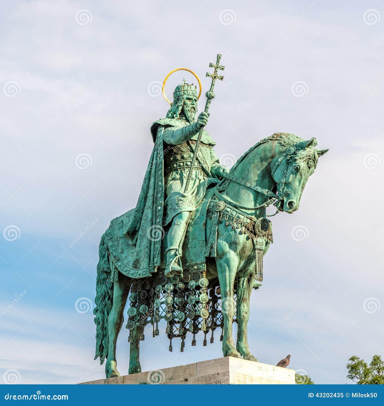 Download Skulptur För Konung St Stephen Fotografering för Bildbyråer - Bild av stephen, stad: 43202435