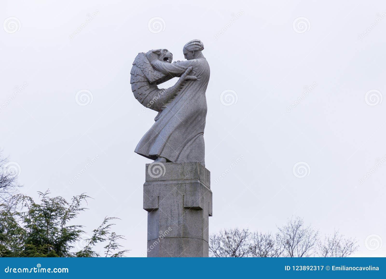 Skulptur an Vigeland-Park in Oslo