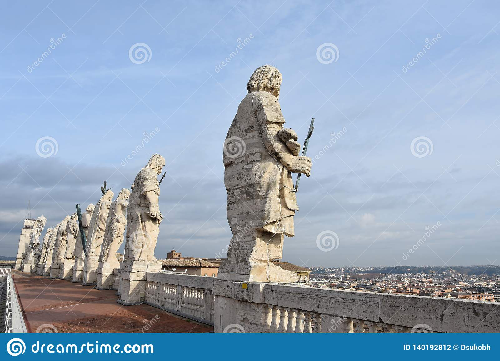 Skulpturen auf St Peter Basilika, Vatikan
