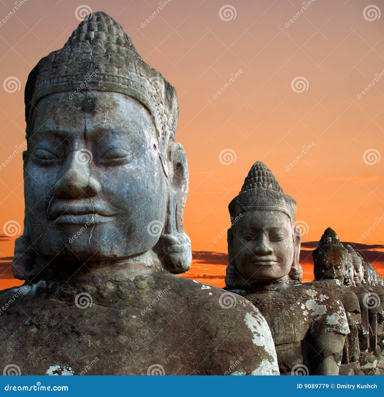 Skulpturen der Dämonen von Asien