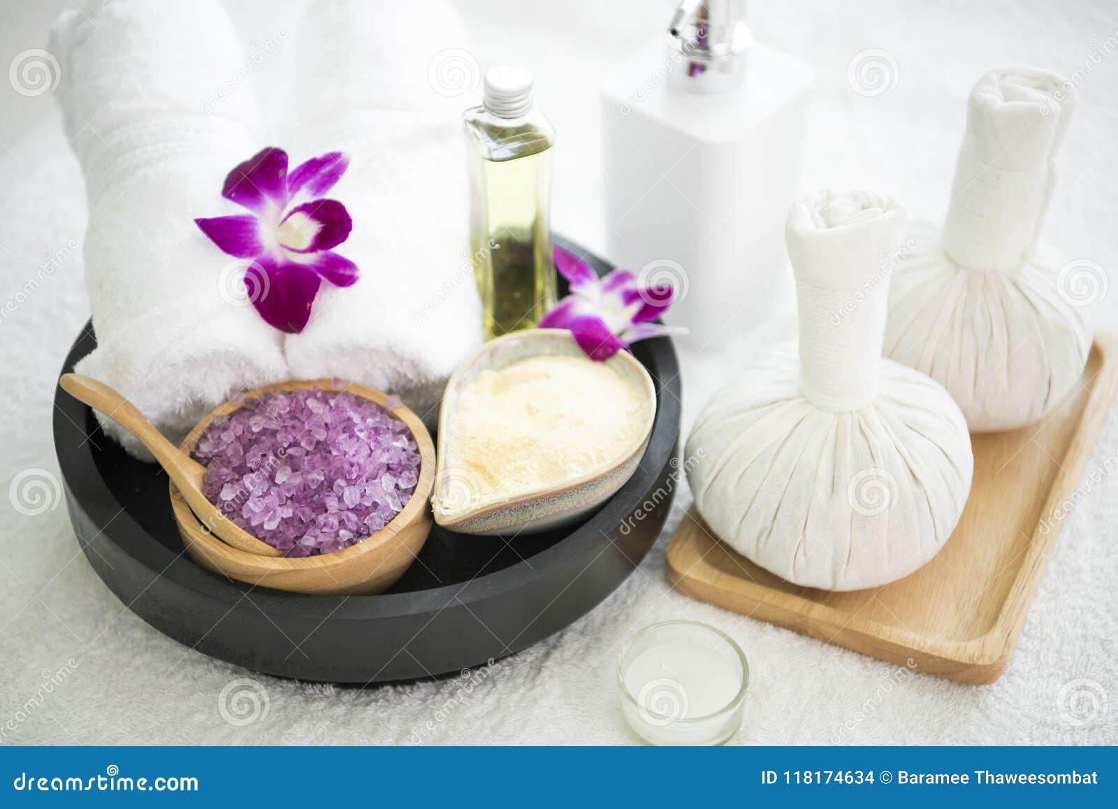 Skurar aromatiskt salt för Spa tillbehör och handduken, kompressboll