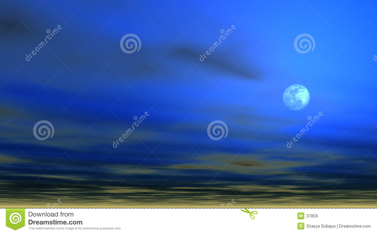 Sky background with Moon [4]