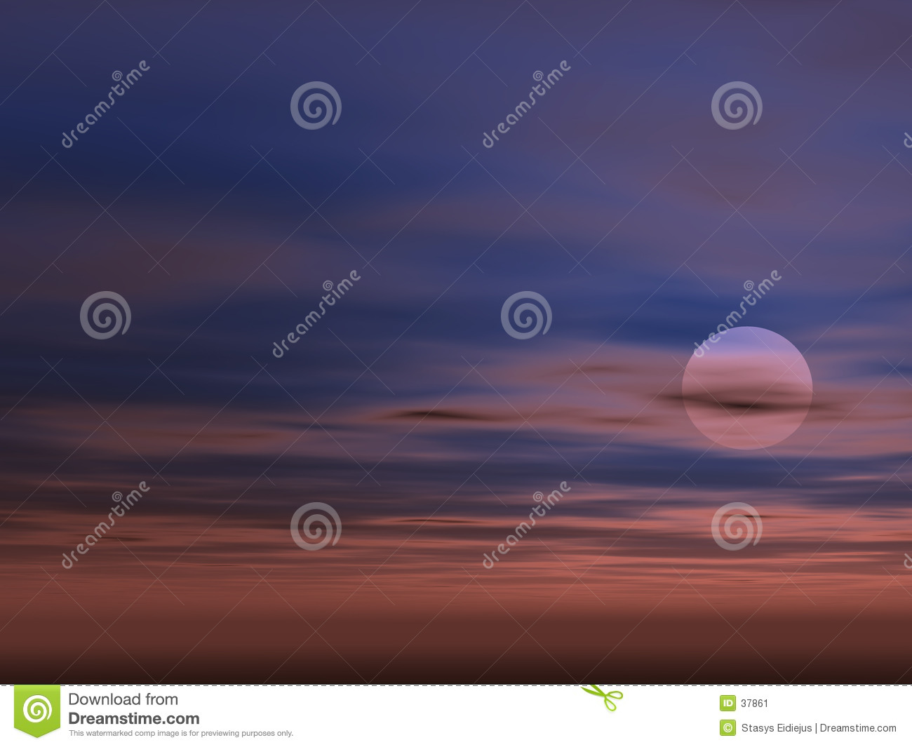 Sky background with Sun