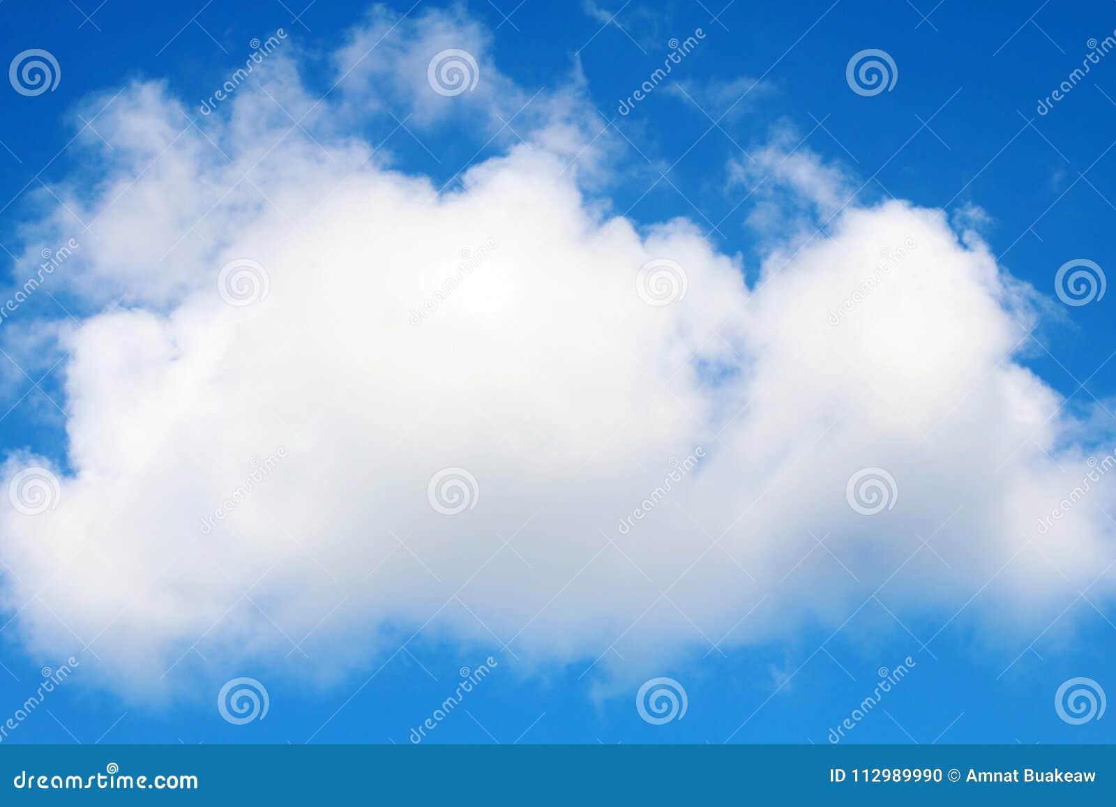 Sky, Big clouds beautiful on sky blue background