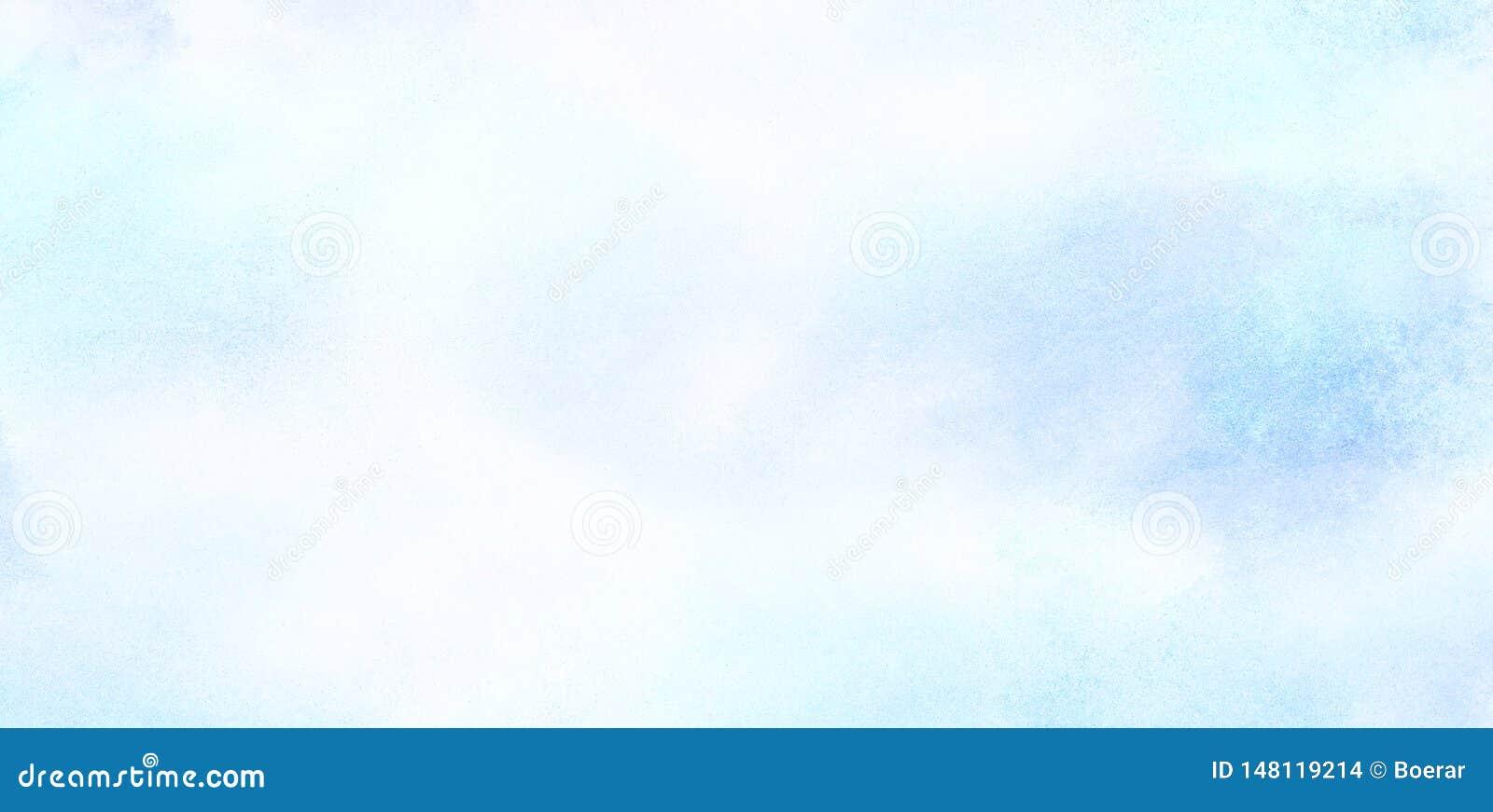 Sky blue color light watercolor background. Aquarelle painted paper textured canvas for vintage design, invitation ca