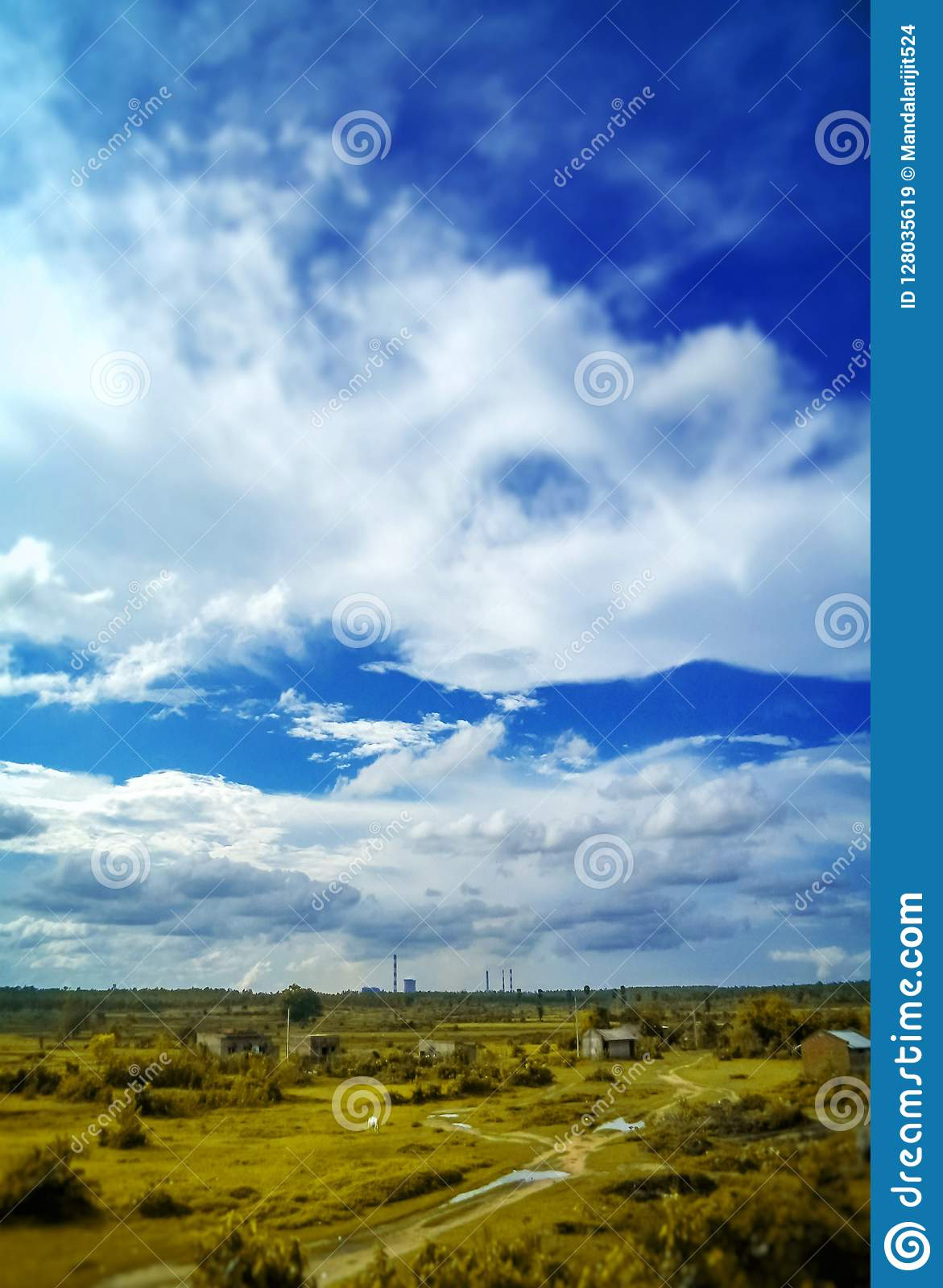 The picture of a blue sky nature