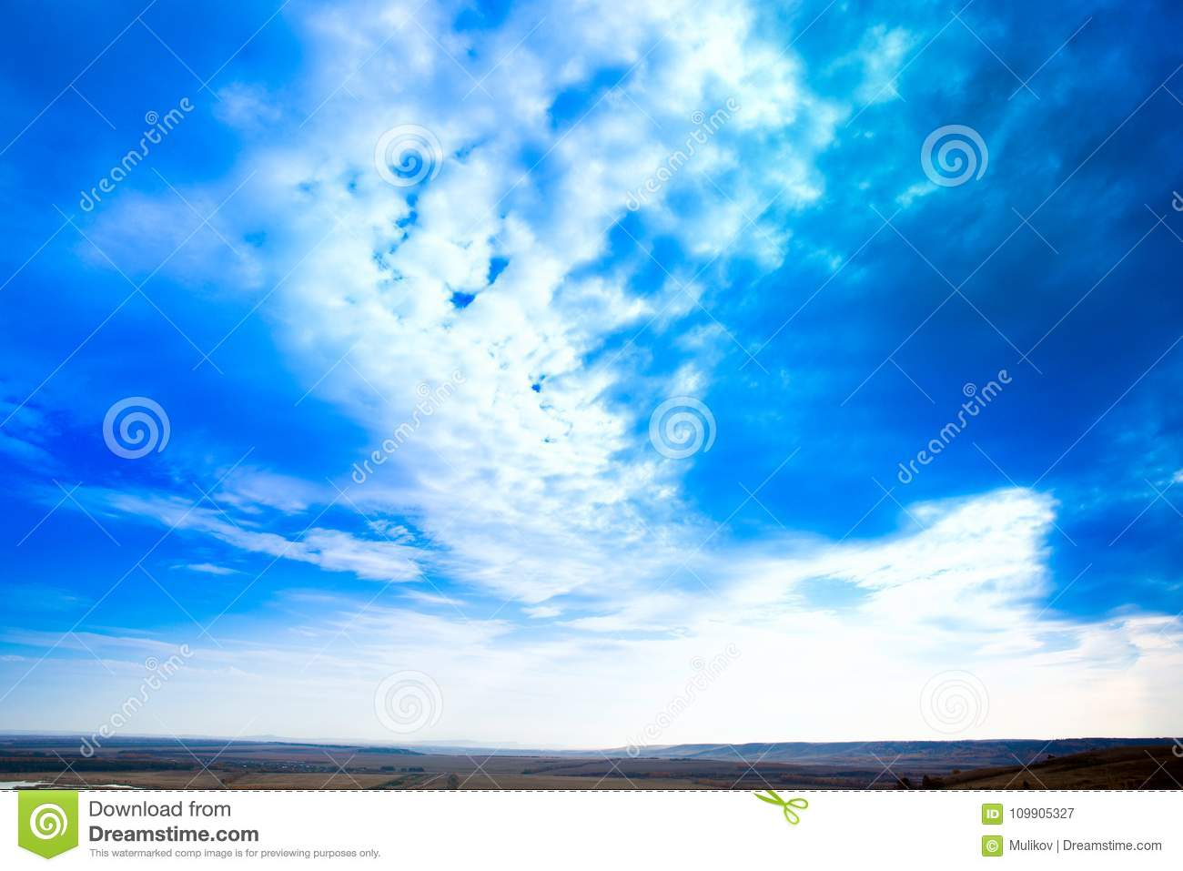 Sky Blue Sky Background With Purple And Green Clouds Sky With Clouds On Sunset Stock Image Image Of Design Green 109905327
