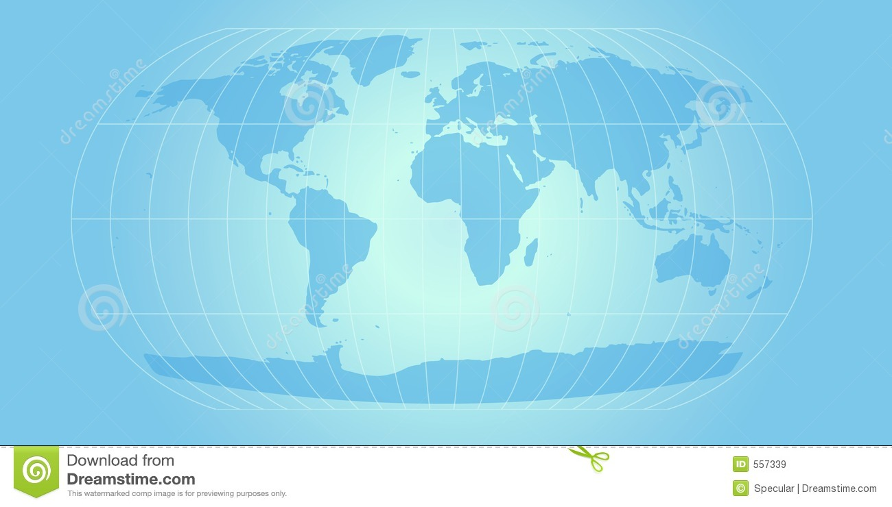 Sky Blue World Map Royalty Free Stock Images - Image: 557339