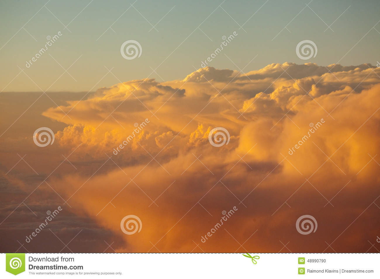 Sky and clouds colorful sunset cloudscape in Himalayan range