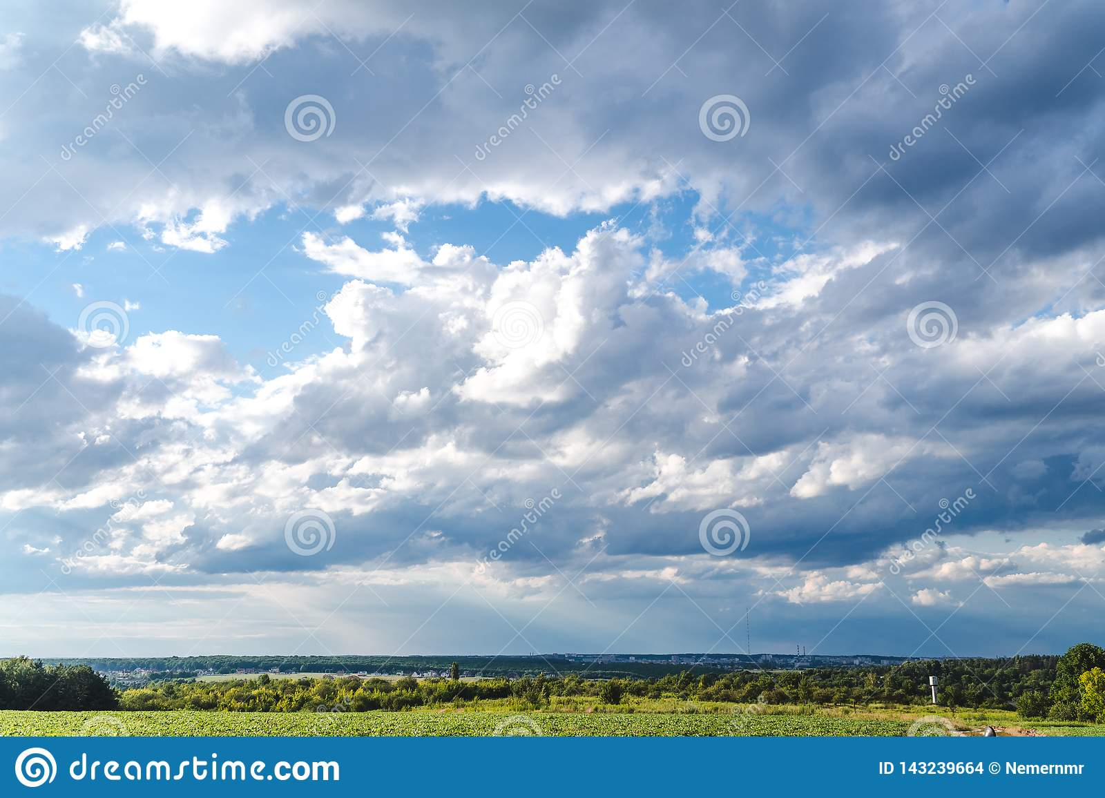 Sky clouds,sky with clouds and sun view outdoor city horizont