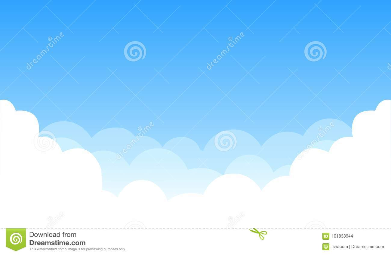 Sky with clouds stock vector  Illustration of wallpaper - 101838944