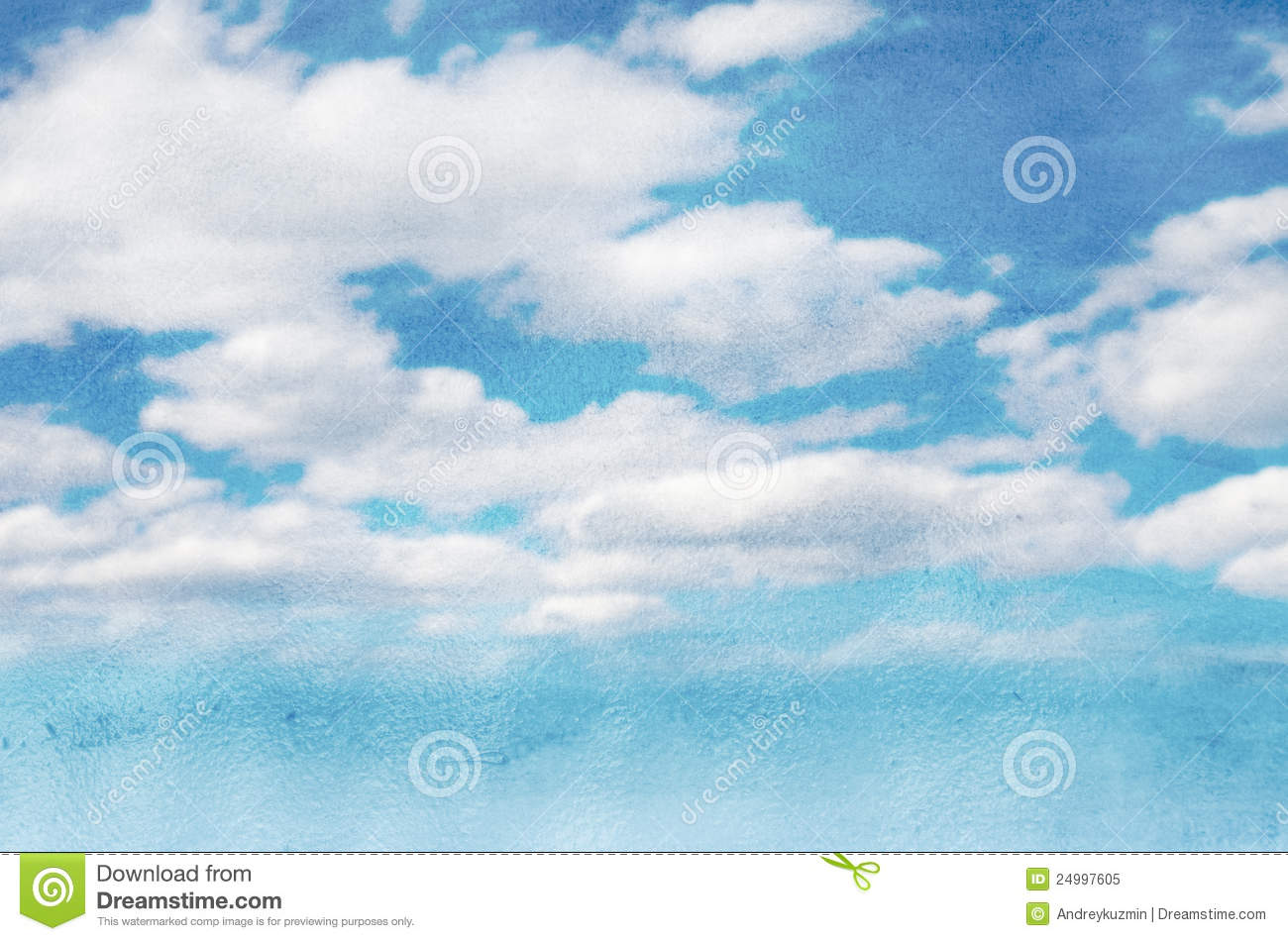 Sky And Clouds Watercolor Background Royalty Free Stock
