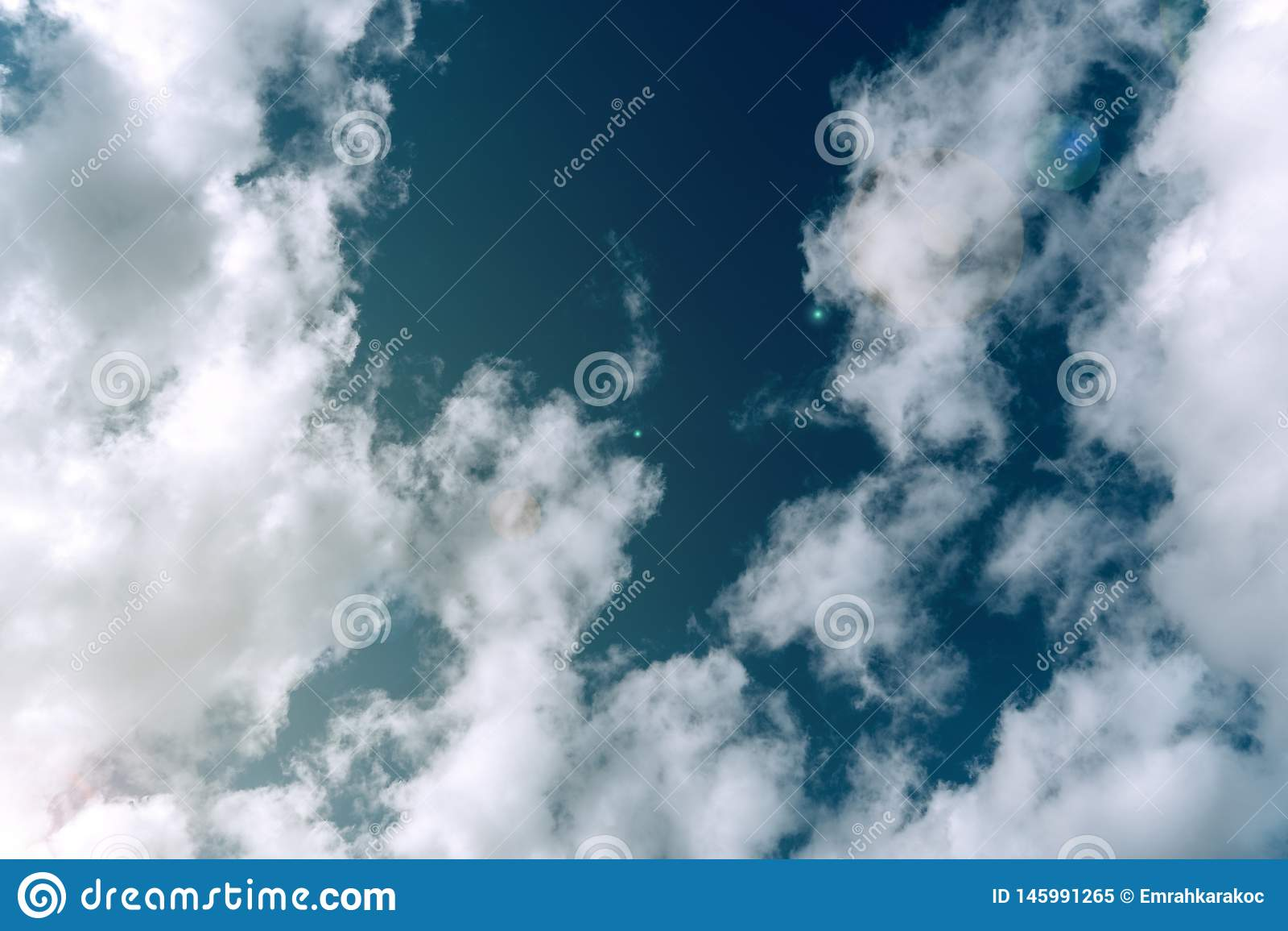 Sky between clouds weather