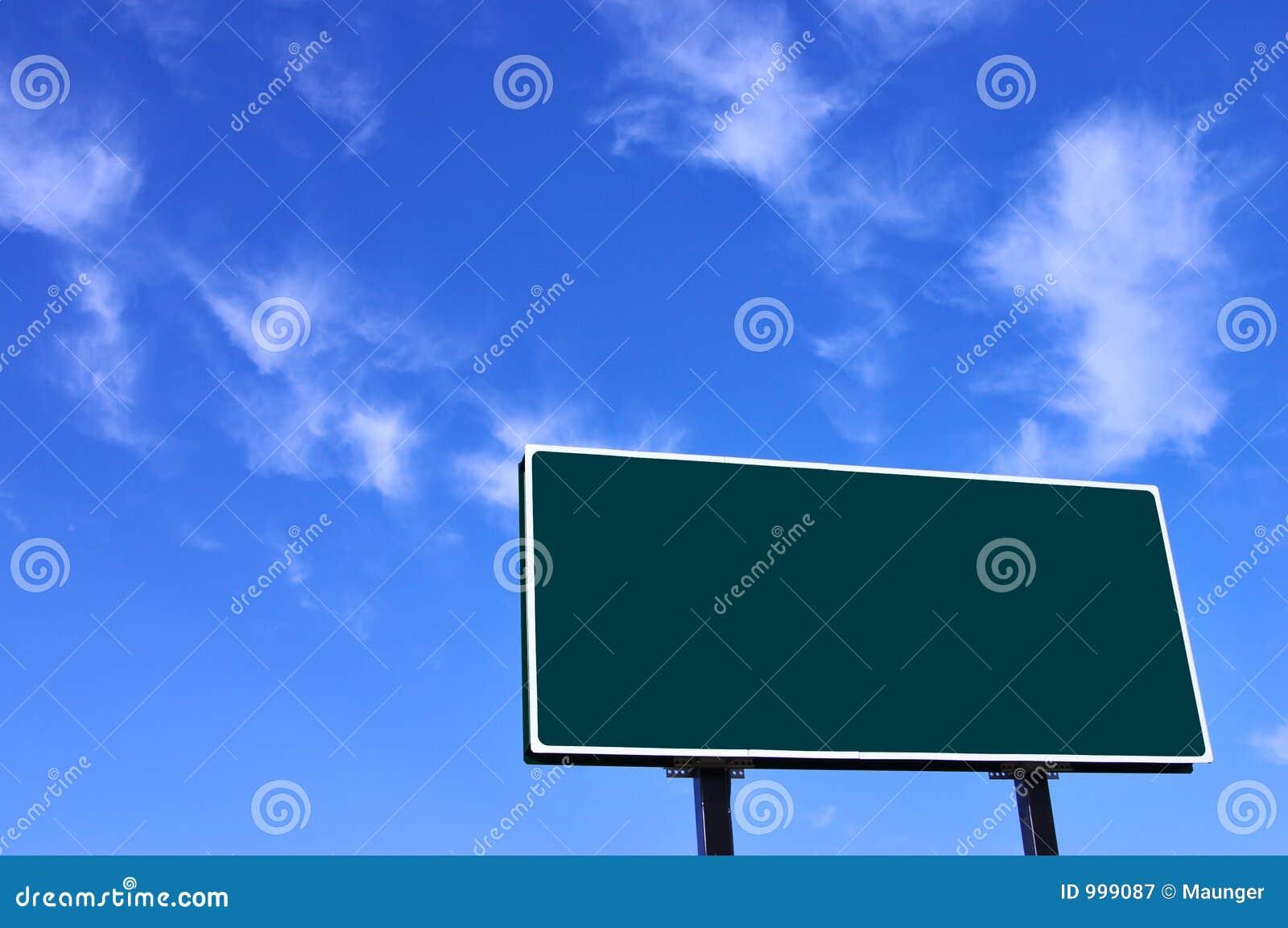 Sky för blå green för affischtavla