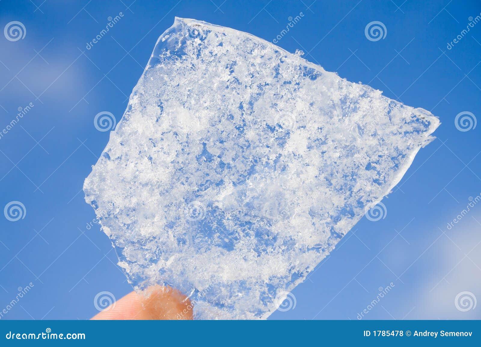 Sky för is för bakgrundsbithand