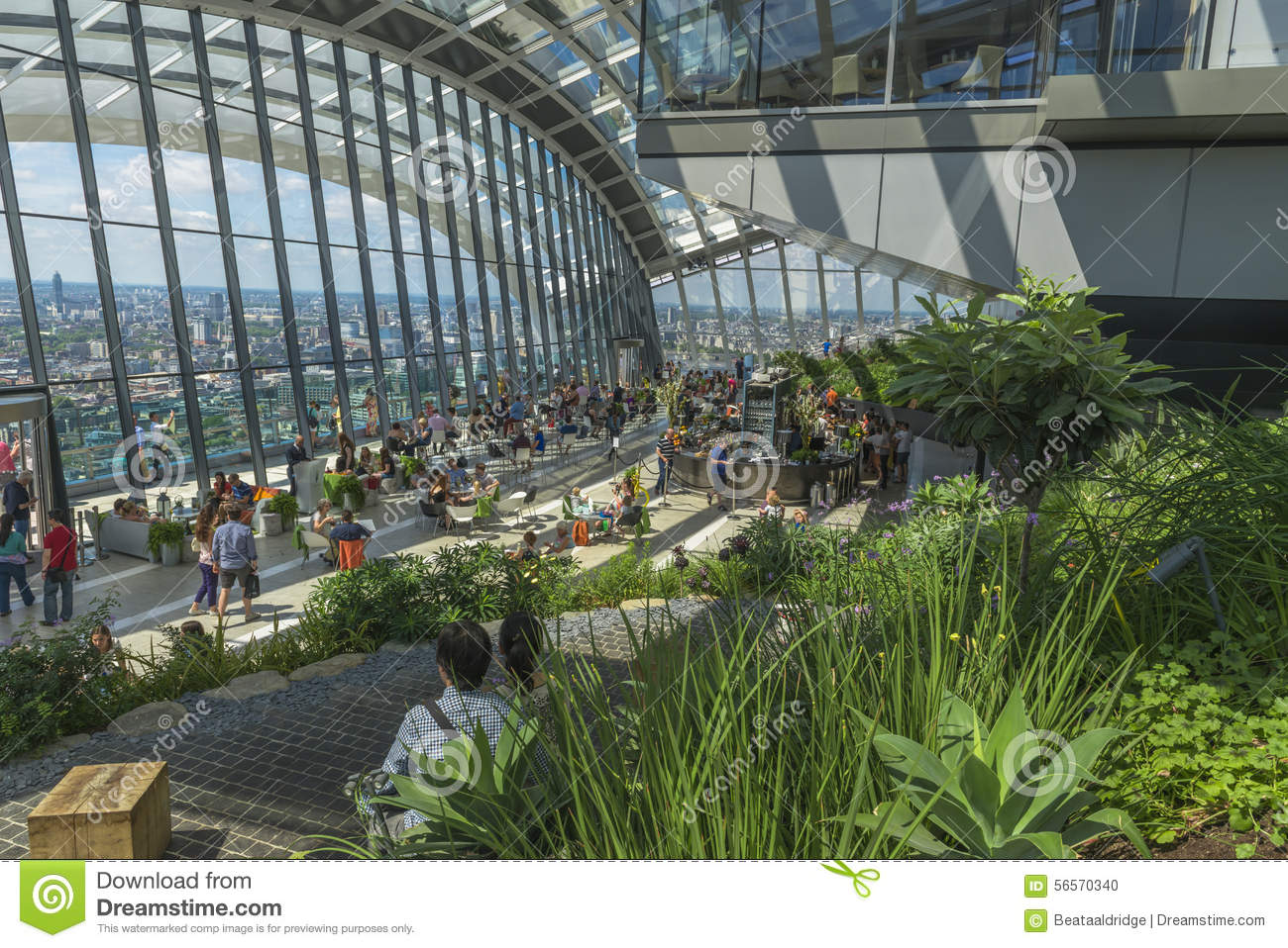 The Sky Garden 20 Fenchurch Street London Uk Editorial Image Image 56570340
