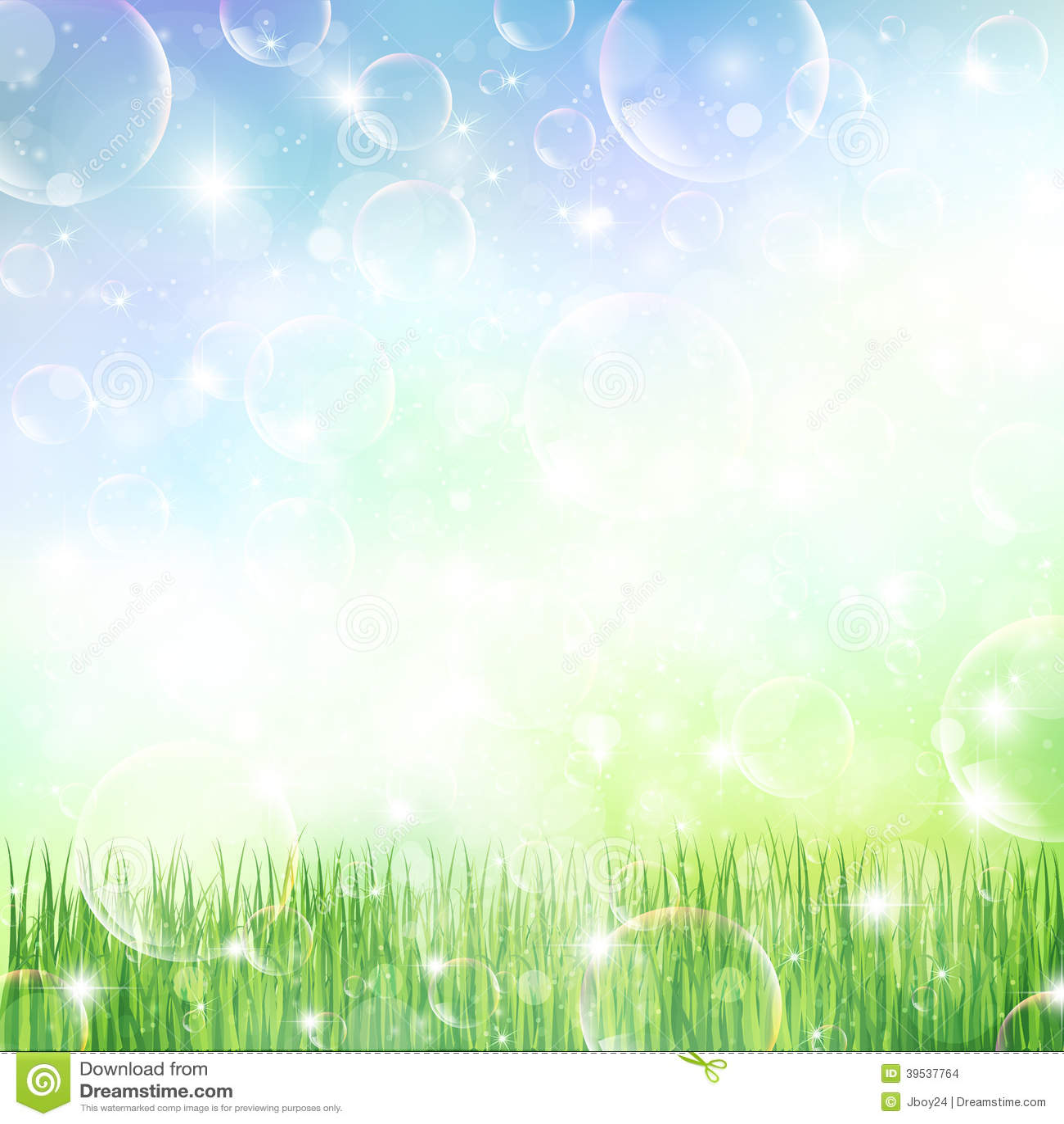 Sky Grass Landscape Stock Vector - Image: 39537764