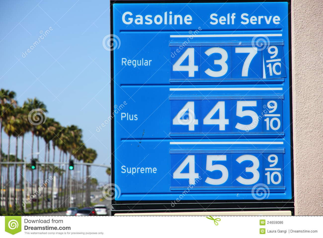 Gas Prices In California >> Sky High Gas Price Sign With Palm Trees Stock Photo - Image: 24659086
