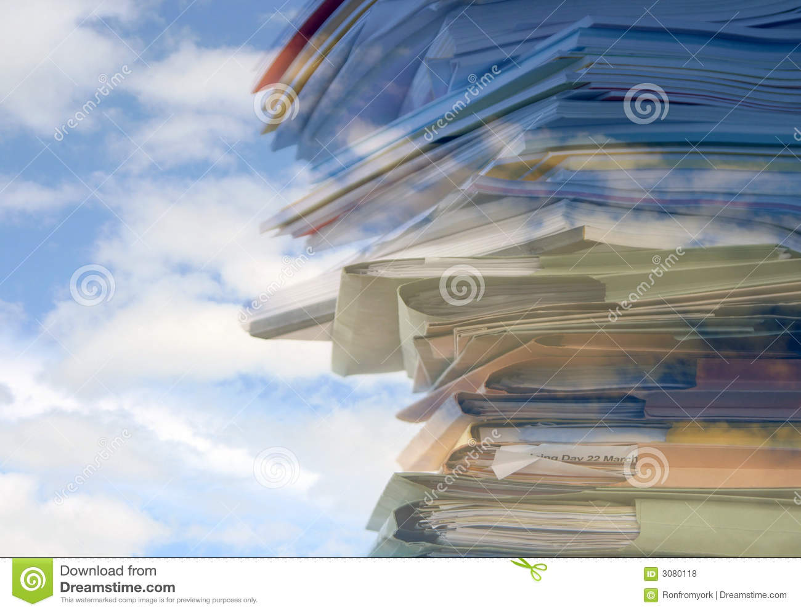Sky high paperwork