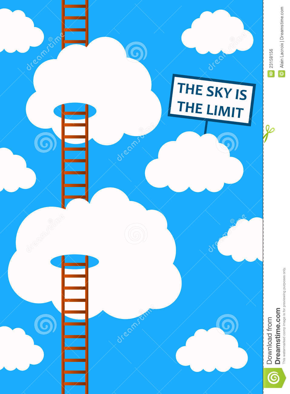 Sky Is The Limit Stock Illustration Illustration Of Career 23158156