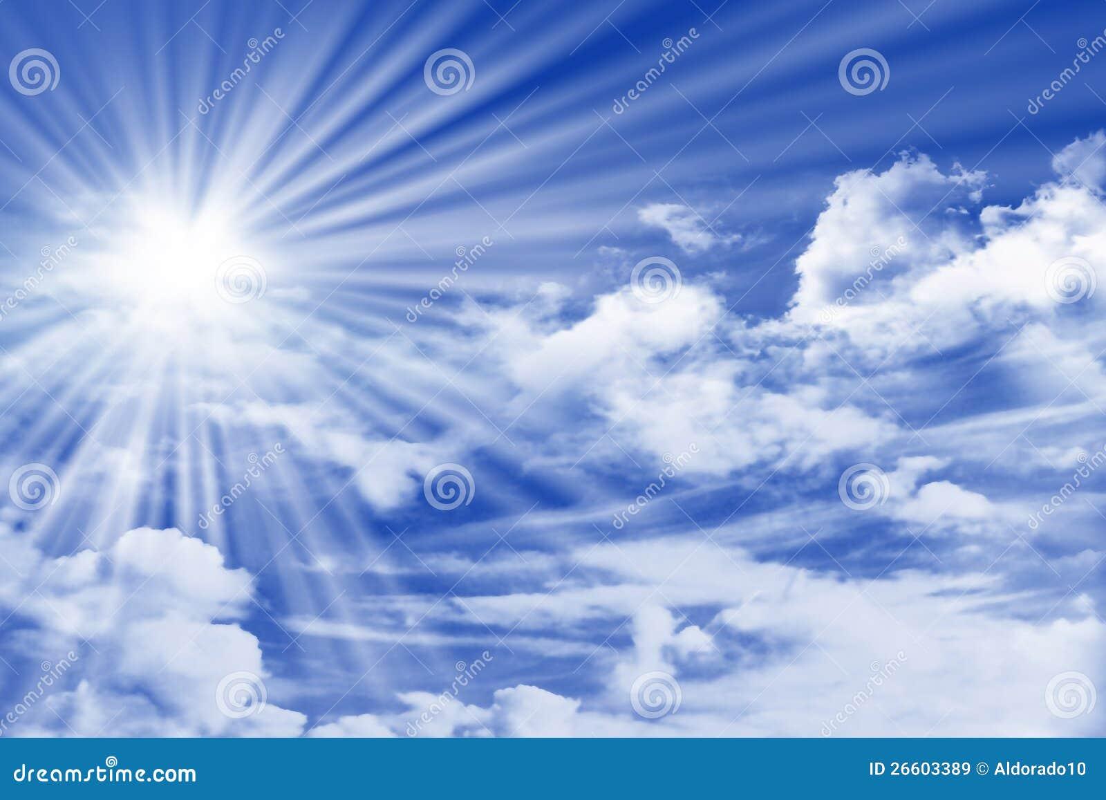 Sky med oklarheter och Sun