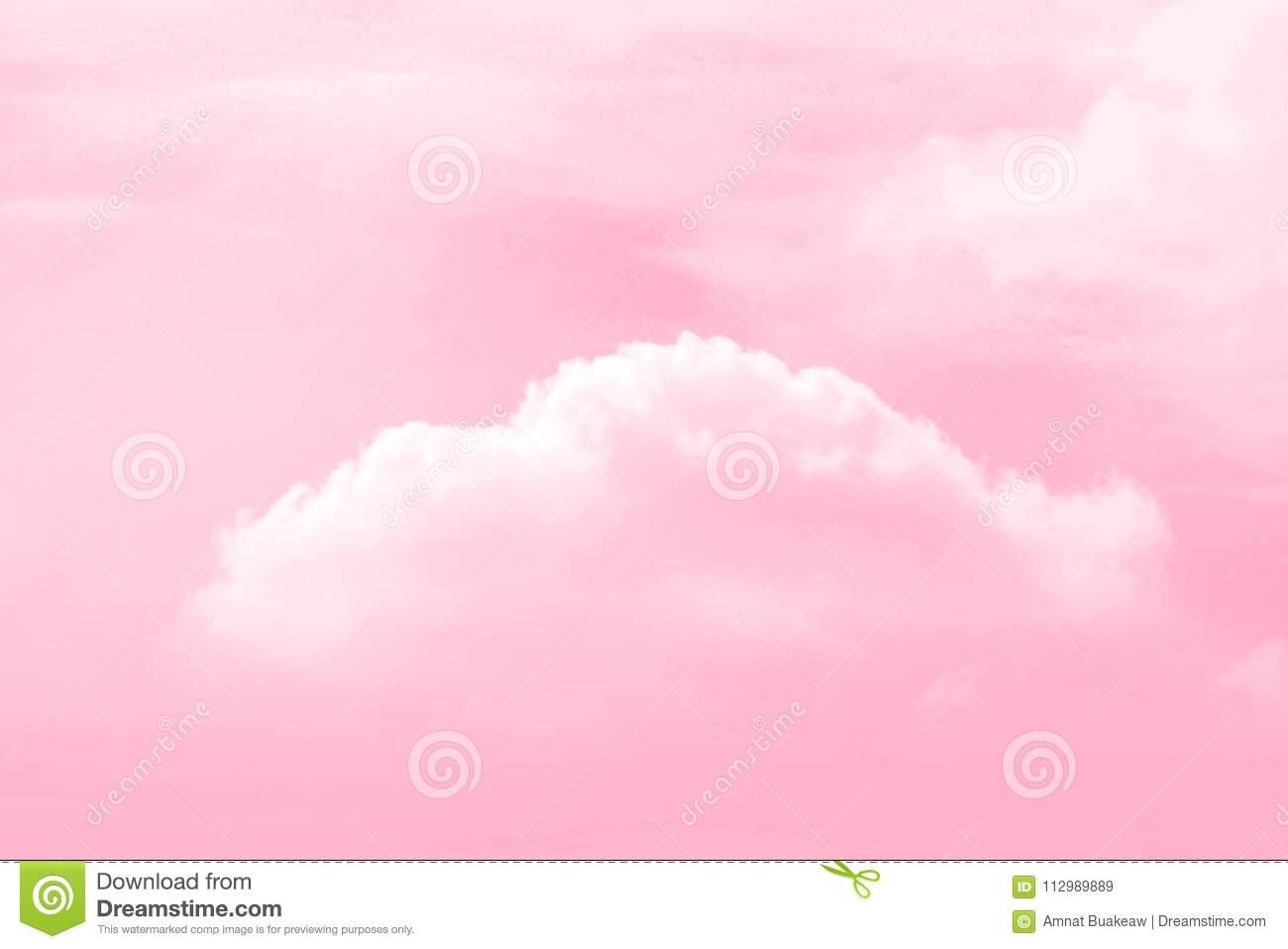 Sky Pink, Sky clouds in love feel color pink background valentine