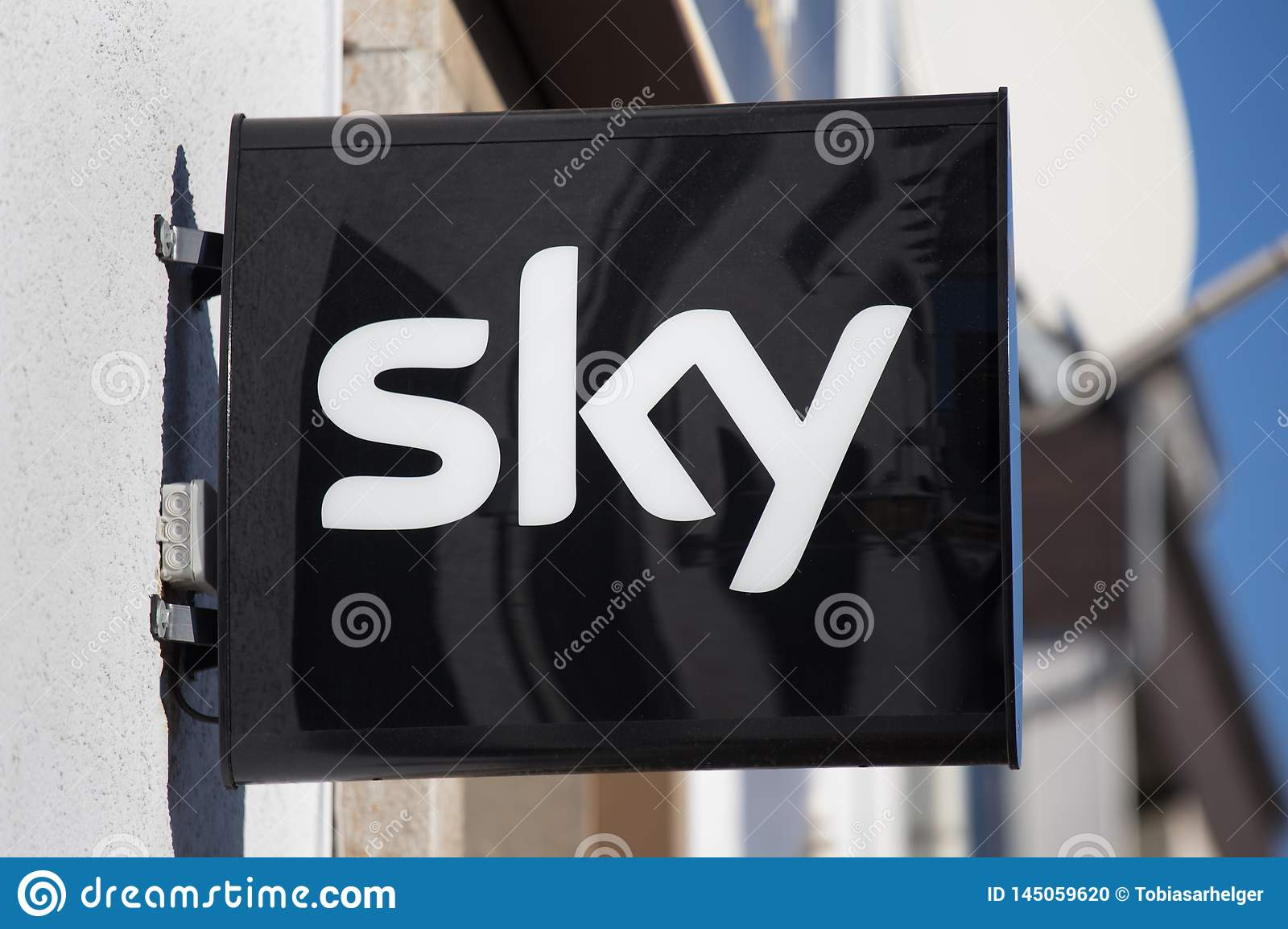 Sky sign in haiger germany