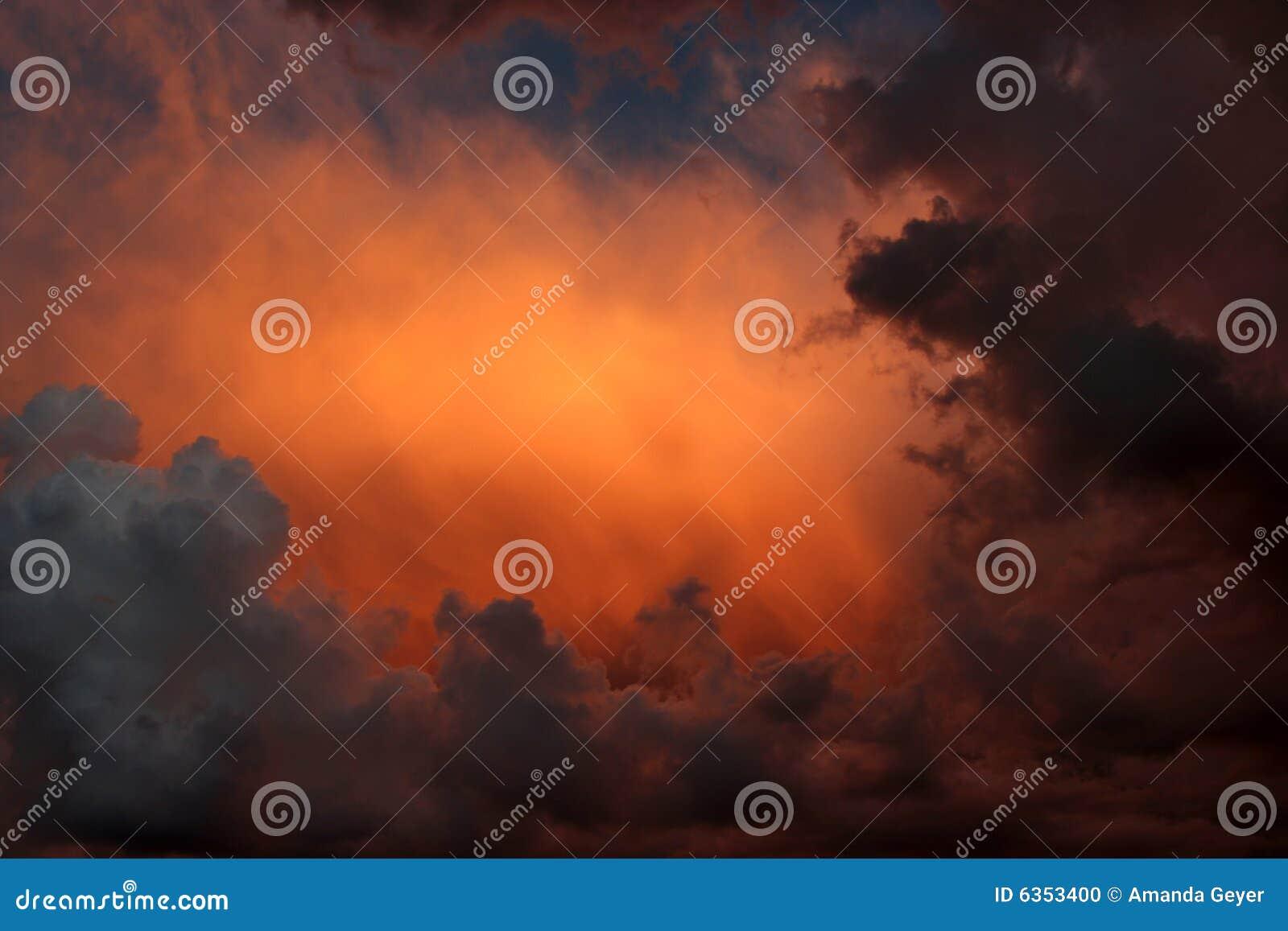 Sky stormy