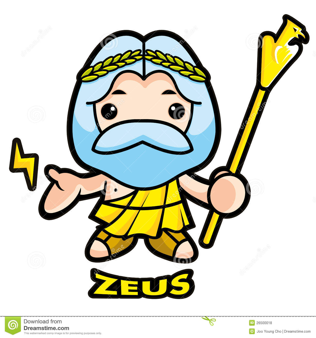 Of Sky And Thunder God Zeus Royalty Free Stock Photos - Image ...
