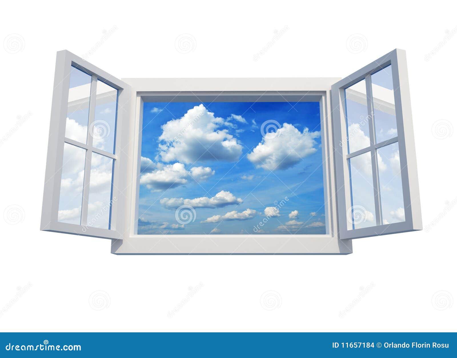 Sky till fönstret