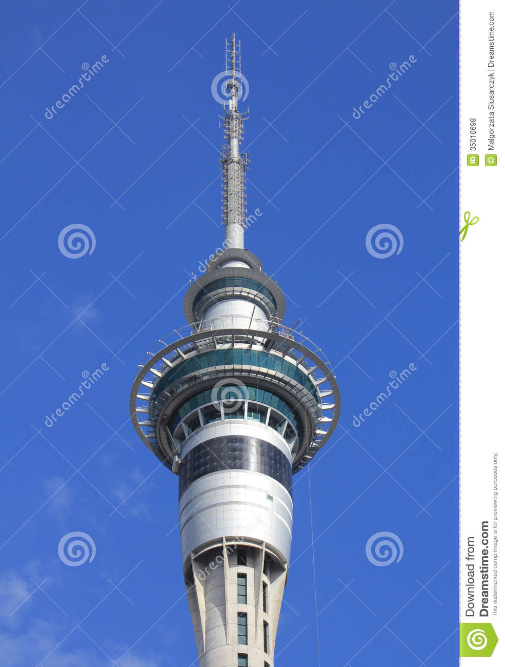 Sky Tower In Auckland Editorial Stock Photo Image Of City 35010698