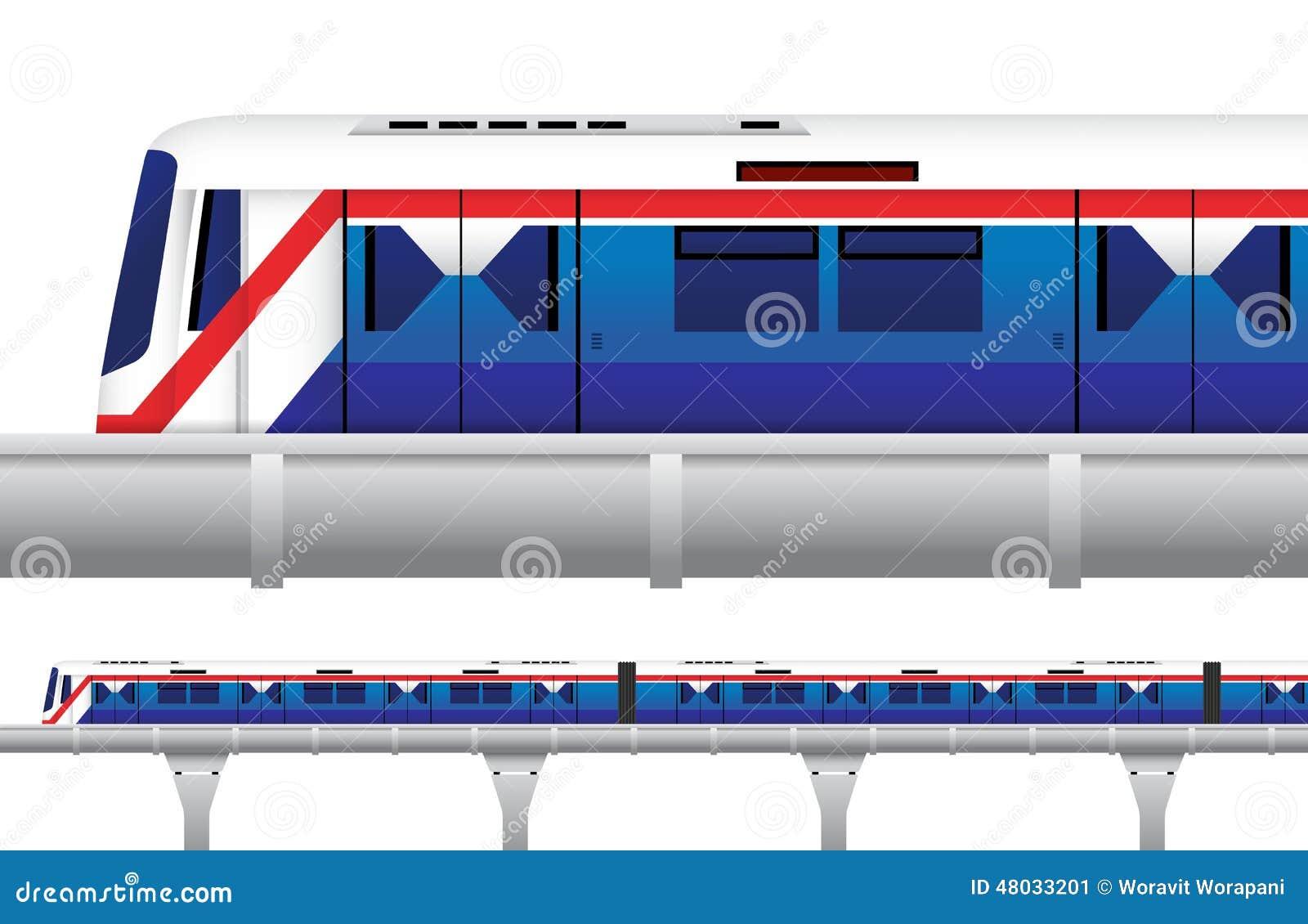 Sky Train In Bangkok, Thailand Stock Vector - Image: 48033201