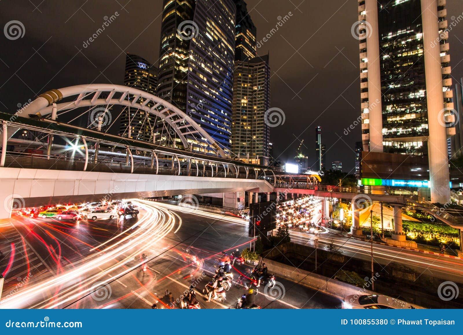 Sky walk BTS Sky walk BTS `Chong Nonsi` Bangkok Thailand.