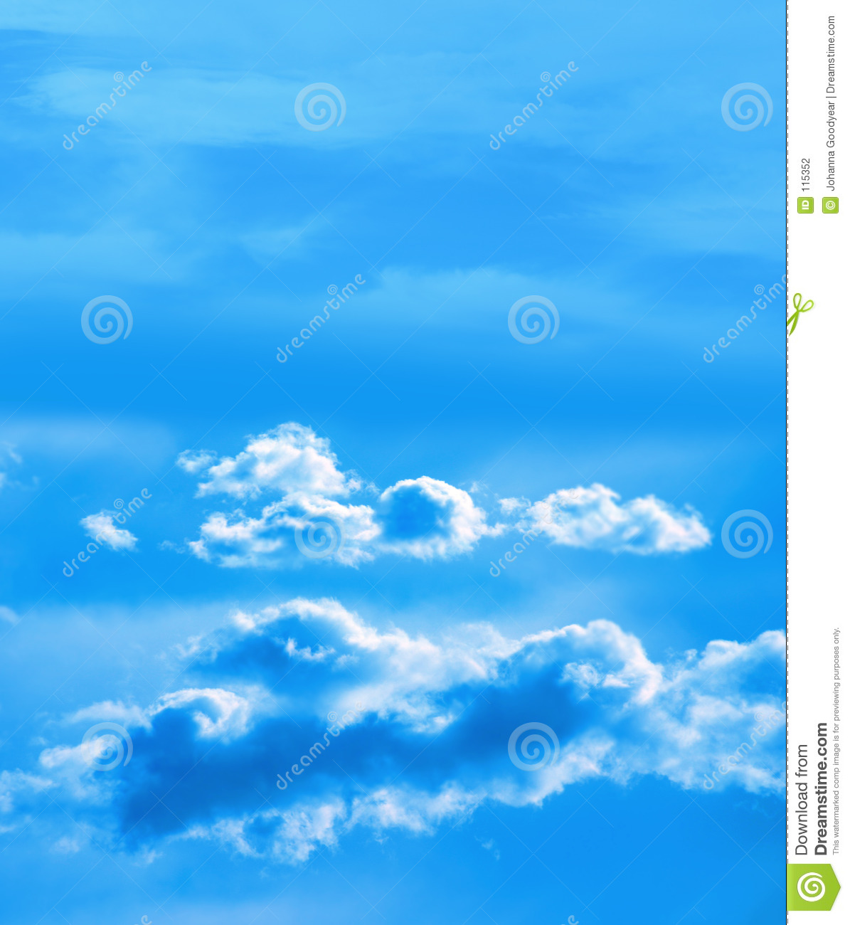 Sky with white puffy clouds