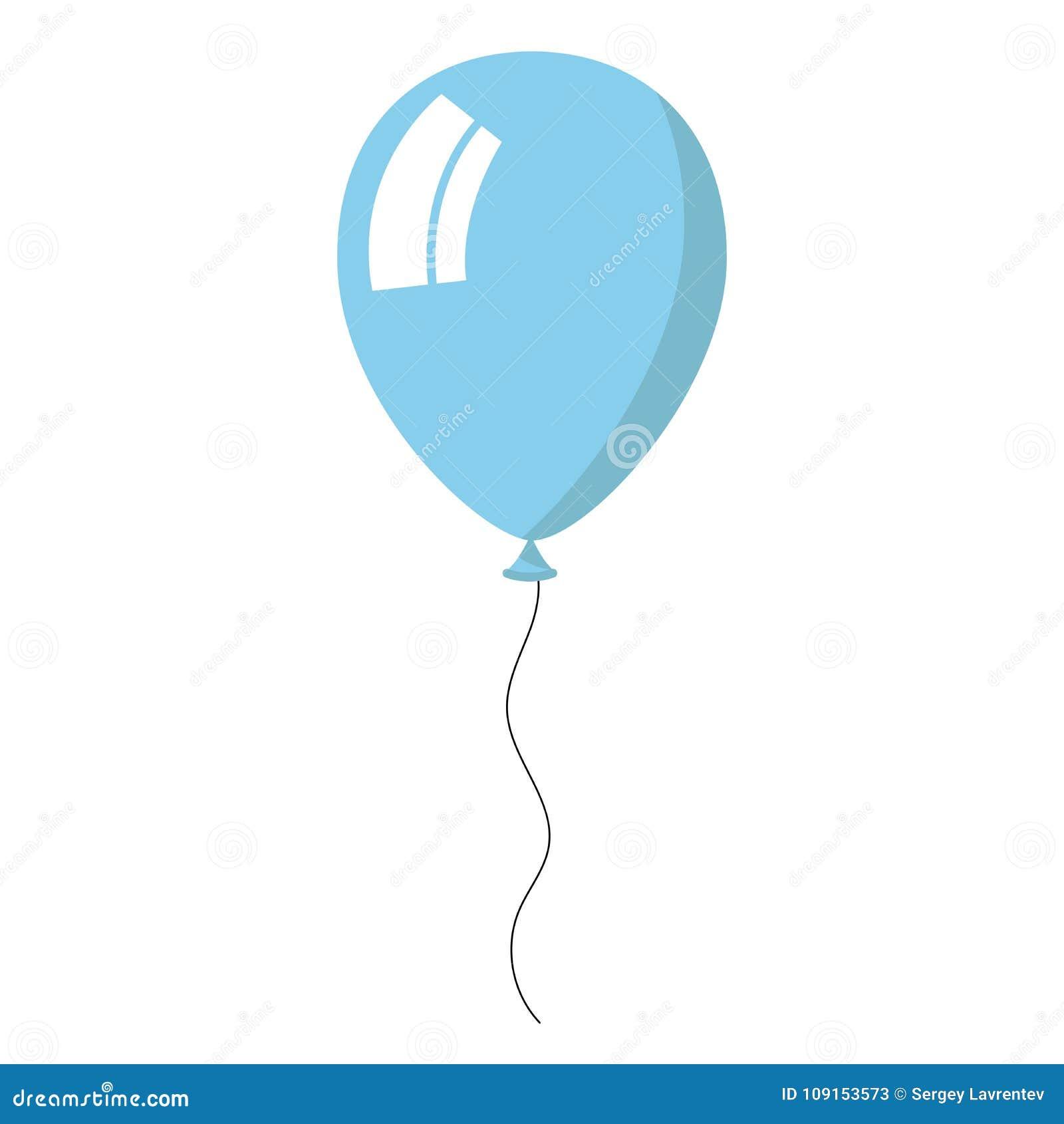 Skyblue balloon on white background