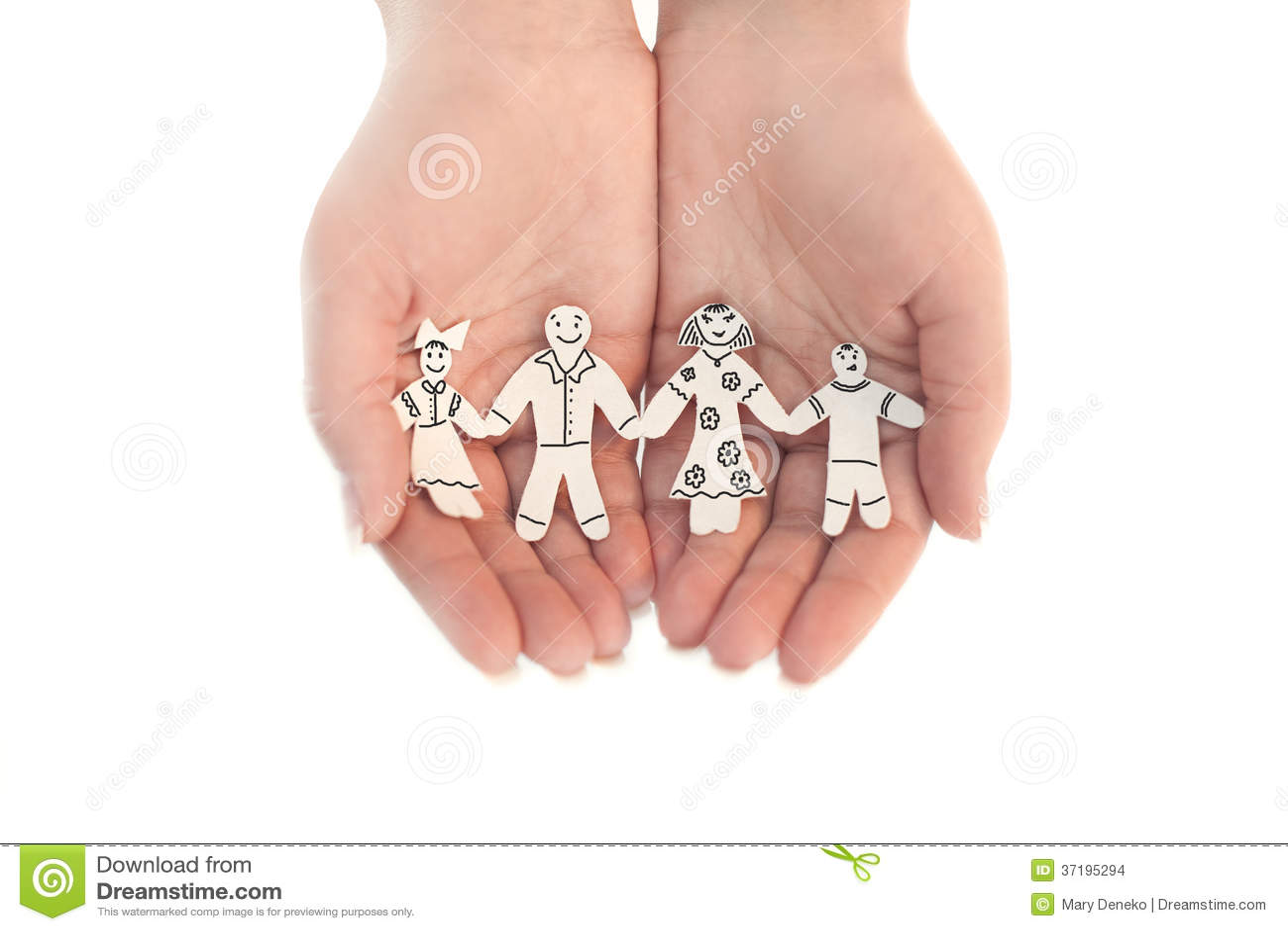 Skyddad pappers- chain familj