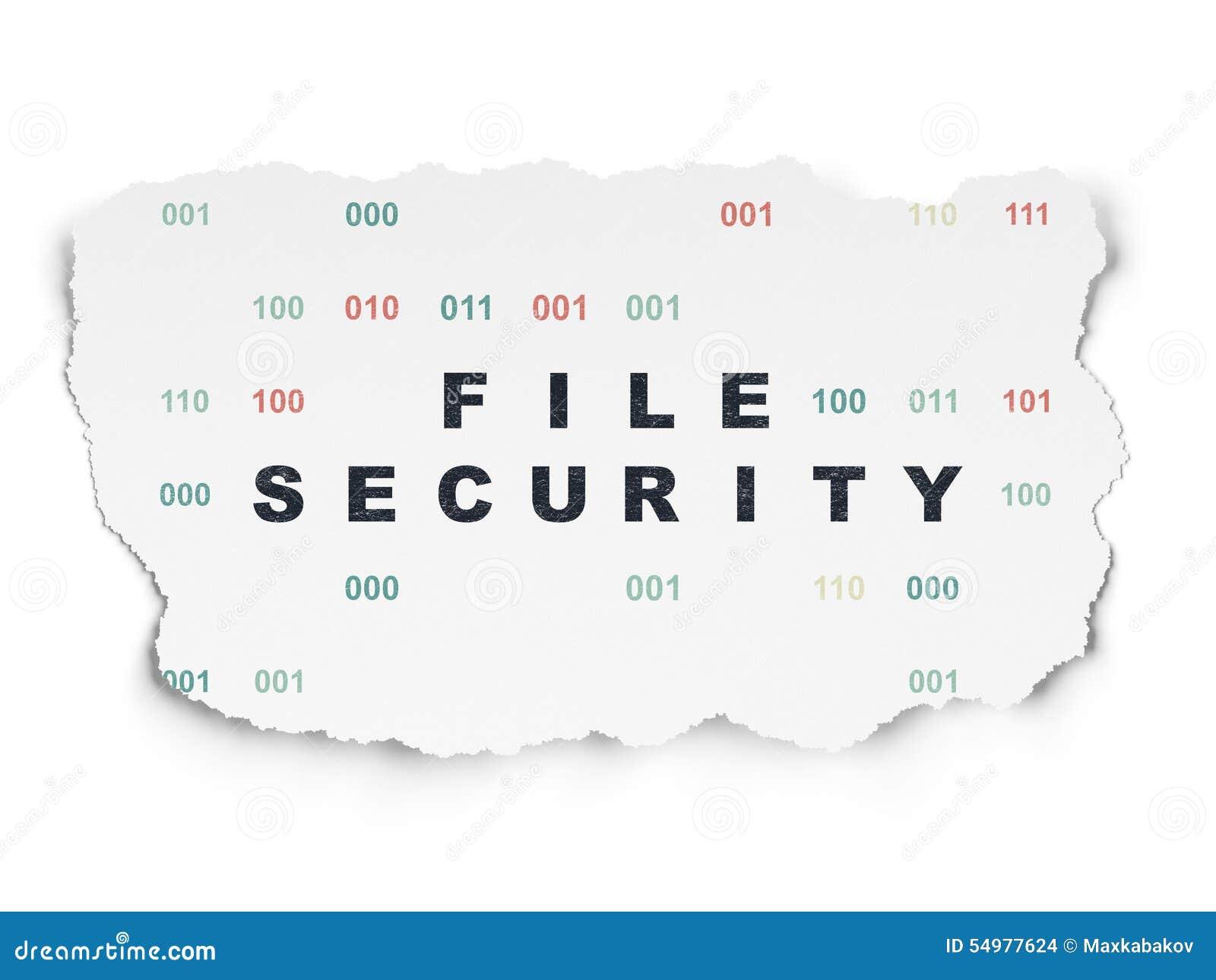 Skyddsbegrepp: Mappsäkerhet på sönderrivet papper