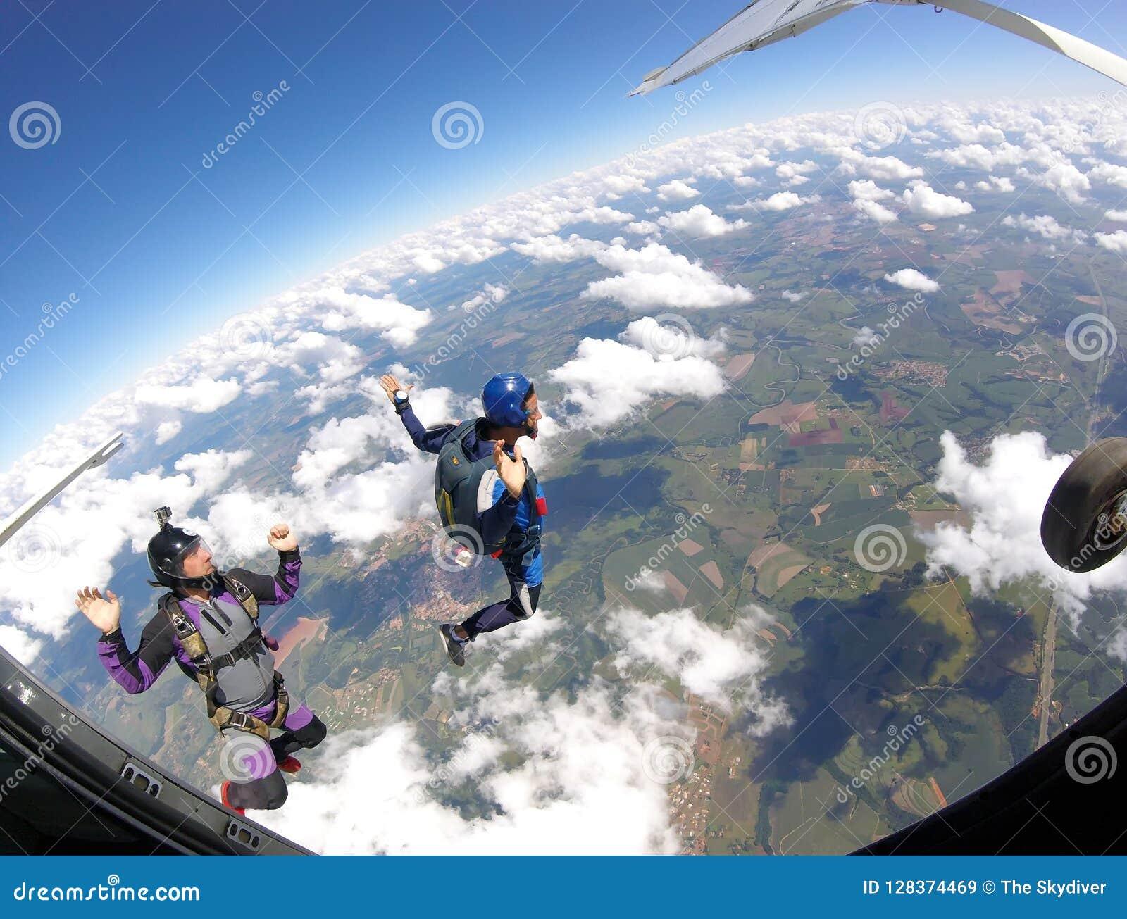 Skydiversherausspringen der Fläche, Innenansicht