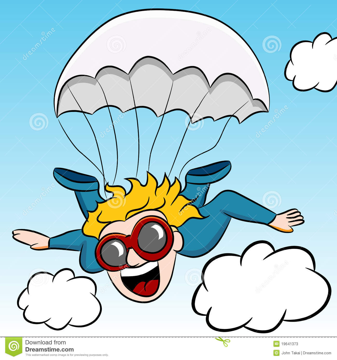 Download Skydiving Adventure stock vector. Illustration of skydiving - 19641373